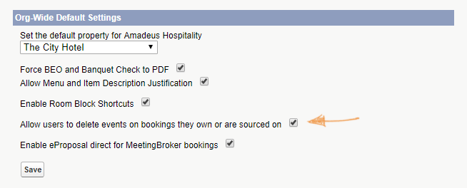Delete Events on Bookings