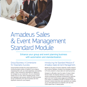 Your Guide to Amadeus Sales & Event Management – Standard Module